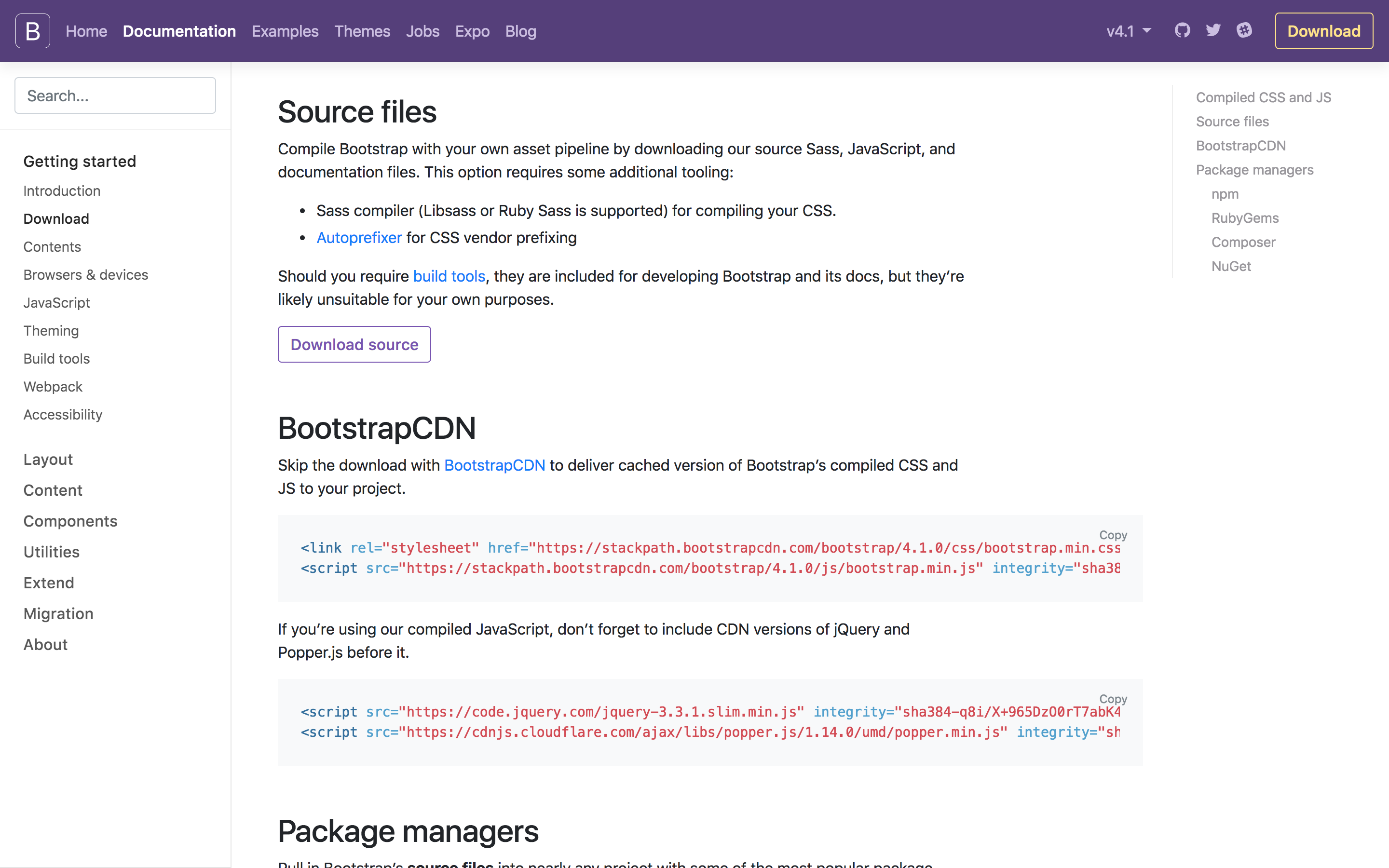 Bootstrap Installation 4 1 0: in case of error! | Full Pipe